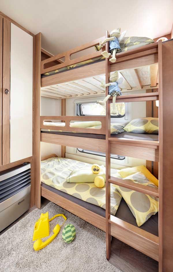 490 KMF De Luxe -Kinderbett 3 stöckig-
